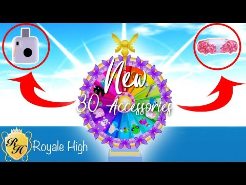 28 New Wheel Accessories Royale High In Game Showcase Youtube