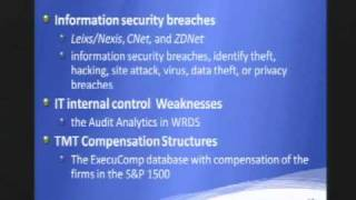 CERIAS Security: Security Management and IT Executives in a Top Management Team 3/5