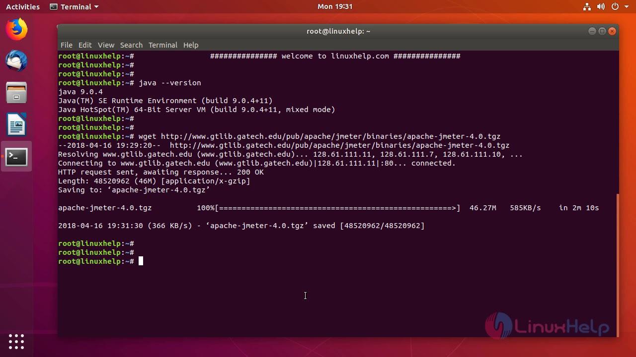 How to install apache jmeter on ubuntu 18 04 | LinuxHelp