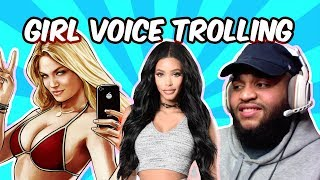 GIRL VOICE TROLLING ON GRAND THEFT AUTO WITH FACECAM!!!