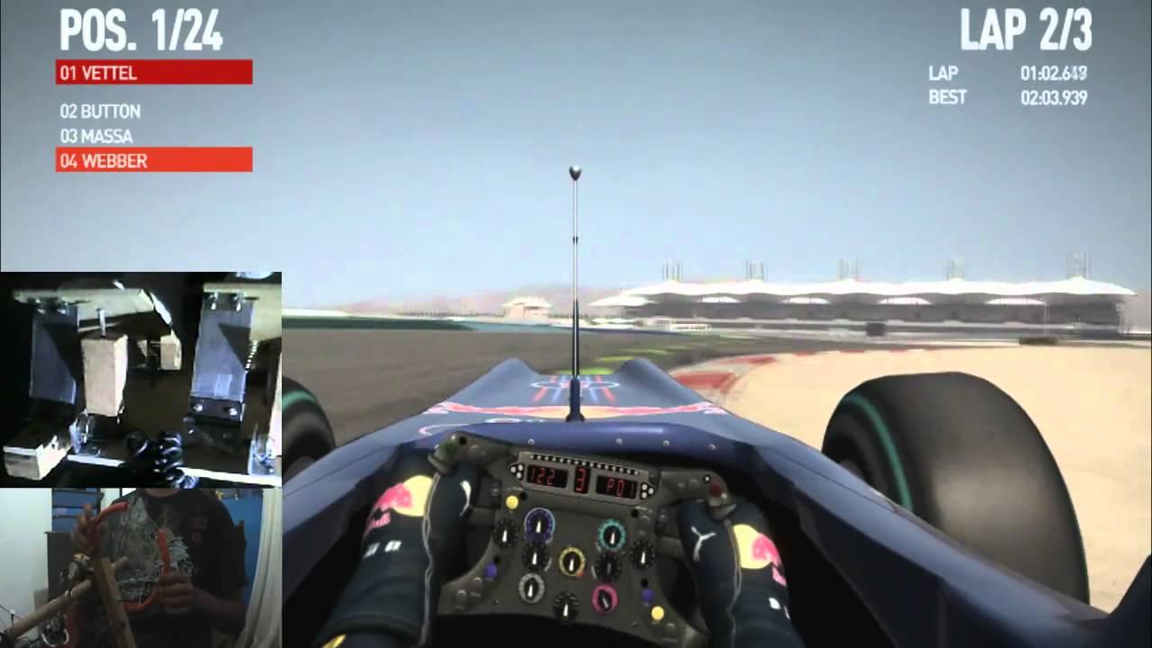 Volante para Pc feito em casa - Formula 1 (2010)