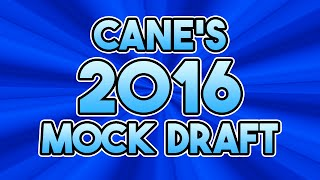 MrHurriicane's 2016 NFL First Round Mock Draft Free HD Video