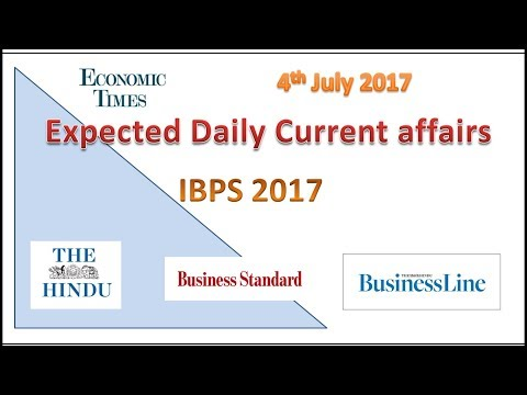 Daily current affairs&static -The hindu,Financial express-SBI,RRB,IBPS,SSC 4 July2017