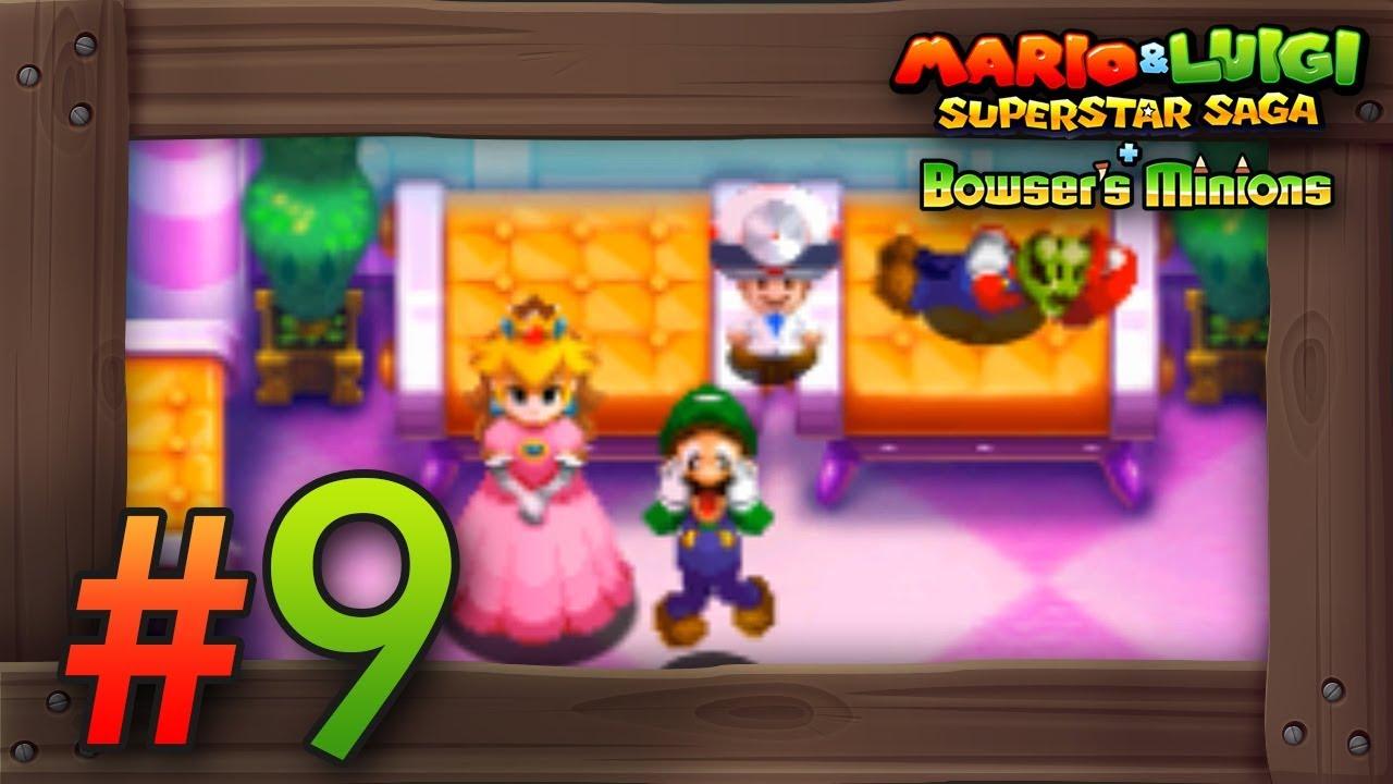 Mario Luigi Superstar Saga Bowser S Minions Walkthrough Part 9 Little Fungitown 3ds Gameplay