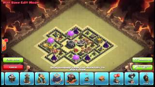 Clash of Clans War Base TH9 Anti Balloons,Lava Hounds,Dragons,Hog riders Anti 3star+ Replay Yo