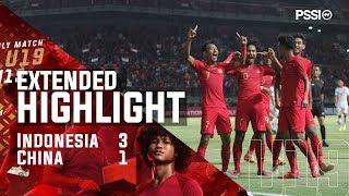 U19 International Friendly Match: Indonesia 3-1 China