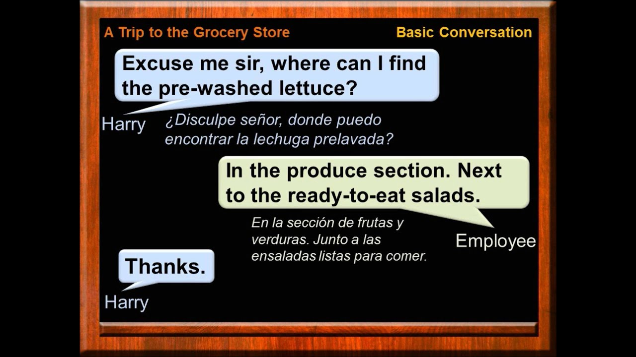 Conversación En Inglés Vamos Al Supermercado En Inglés Frases En