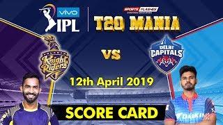Kolkata vs Delhi T20   Live Scores and Analysis (English)   IPL 2019