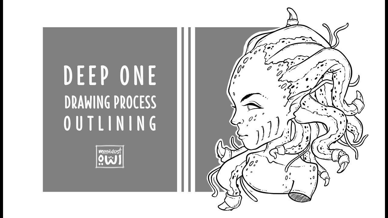 DeepOne ● Digital inking process in Krita