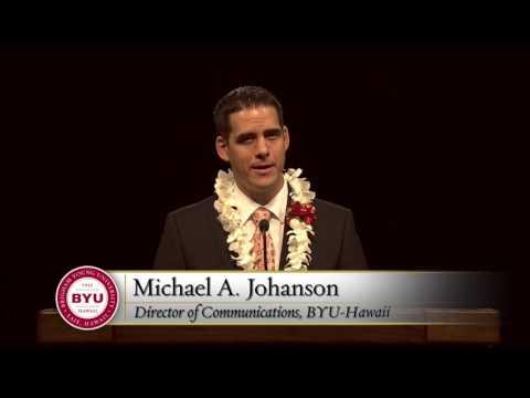 Michael Johanson Devotional at BYU–Hawaii