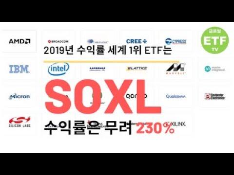[경제, 재테크, 투자 상식] 2019년 수익률 세계 1위 ETF는 SOXL, 수익률은 무려 230%