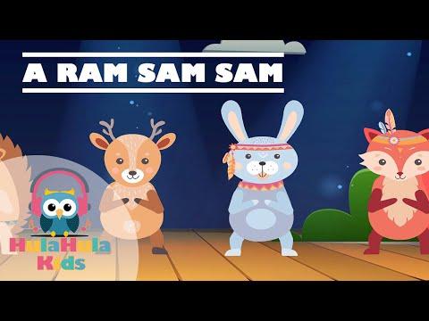 A Ram Sam Sam | Nursery Rhymes & Kids Songs | Hula Hula Kids