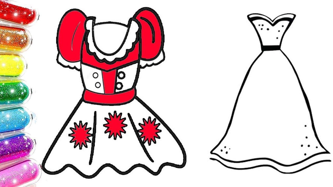 Prenses Elbiseleri Boyama Elbise Boyama Yap Renkleri Ogreniyorum