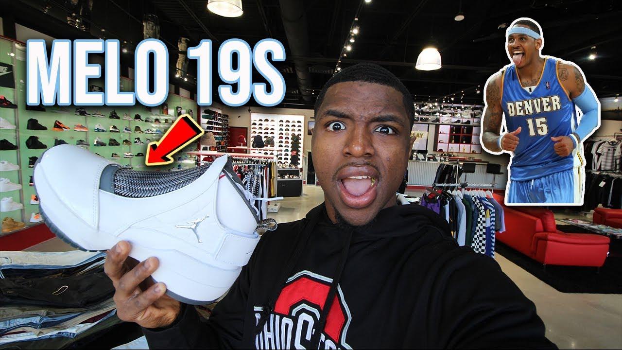 e701a620eeea Air Jordan 19 Melo Flint Grey Pickup Vlog - YouTube