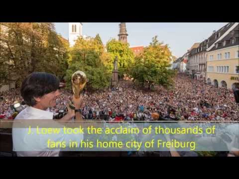 Germany coach Joachim Loew's FIFA World Cup  celebration in Freiburg - September 9, 2014