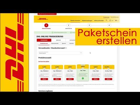 DHL Paketschein online erstellen und kaufen (QR Code für Packstation)