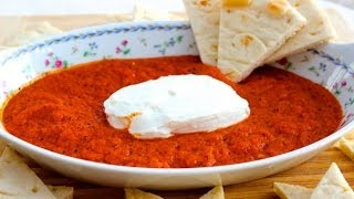 {appetizer Recipe} Baked Roasted Red Pepper And Chevre Cheese By Cookingforbimbos.com