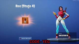 "UNLOCKING -NEW ' ""ROX STAGE 4"" Outfit on Fortnite Battle Royale Saison 9"