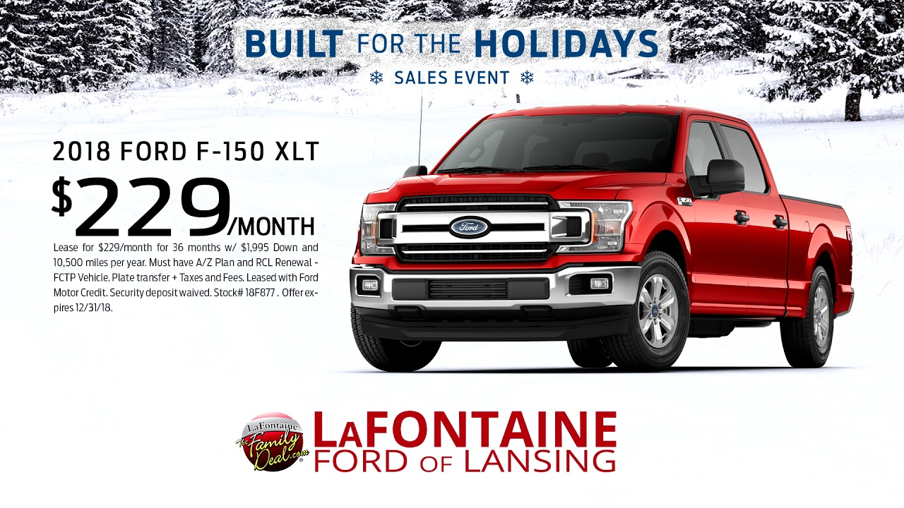 Lafontaine Ford Lansing >> Lafontaine Ford Of Lansing 2018 Ford F 150 Xlt December
