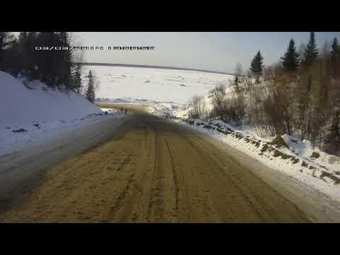 Усть уса Дорога на Усинск  река Печора