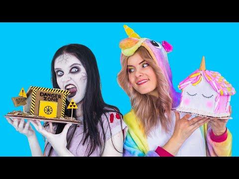 Новогодние сладости Единорога против сладостей Зомби – 9 идей