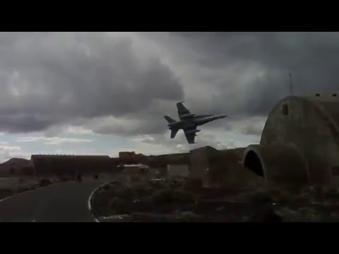 F-18 Jet Low Pass Near Civilian Airport