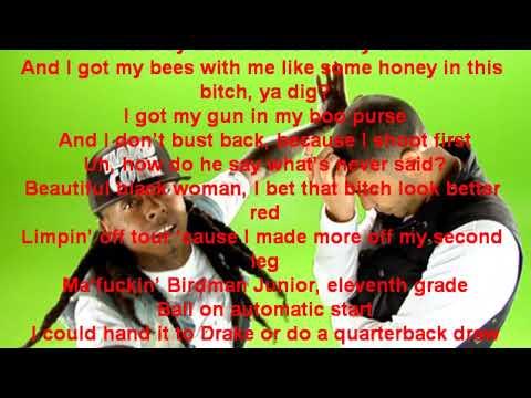 Lil Wayne feat Drake - Right above it [Lyrics] @Steezy481
