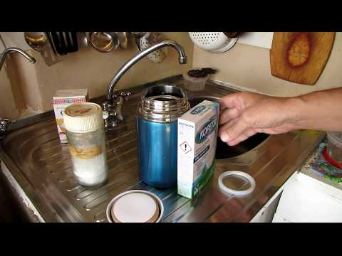 Как отмыть термос от заварки