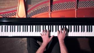 Debussy Arabesques 1&2 - overhead keyboard view + score