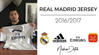 Real Madrid Jersey CL 2016/2017 Aliexpress Unboxing and Review Adidas Football Shirt