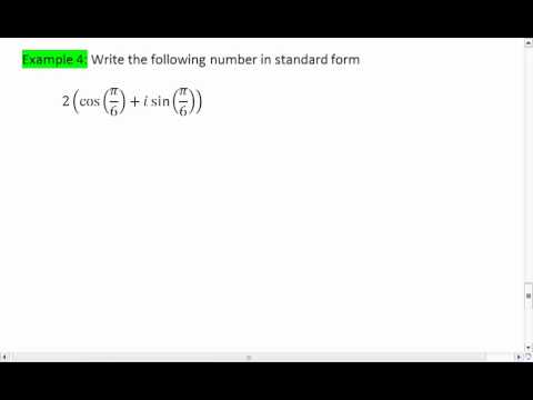 84 4 Of 4 Complex Numbers Converting Between Standard And
