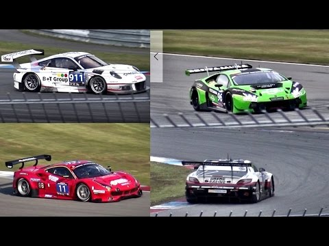 FIA GT3 Cars Sound Battle - Huracan GT3 vs. 488 GT3 vs. SLS GT3 vs. 911 GT3 R