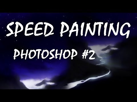 Night landscape | Speed painting (Photoshop) #2