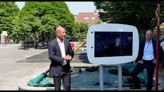 Wethouder Mijnans start digitale bewonersenquête - wijk de Hoek / Spijkenisse 2018