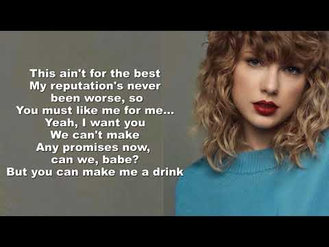 Taylor Swift - Delicate (Lyrics Video) by Mackenzie Johnson