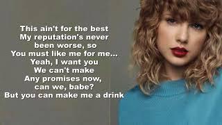 Taylor Swift - Delicate (Lyrics Video) by Mackenzie Johnson