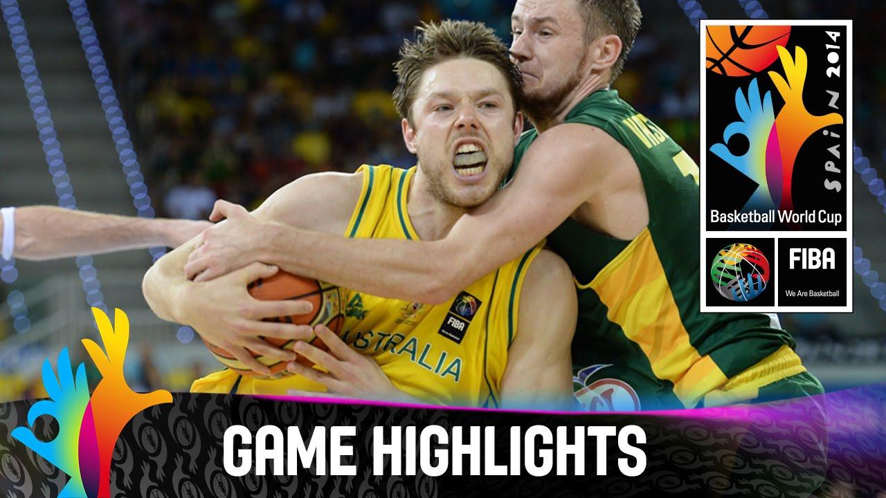 Australia v Lithuania - Game Highlights - Group D - 2014 FIBA Basketball World Cup