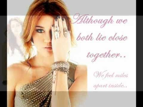Miley Cyrus -Every rose has it's thorns HQ with lyrics and downloadlink