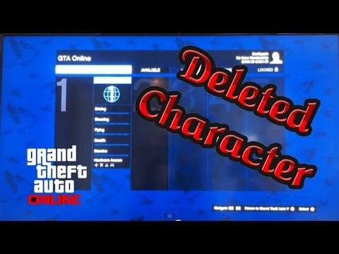 GTA V Online: Deleted Character - How to Get Back / Retrieve Character