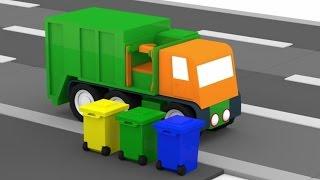 Lehrreicher Zeichentrickfilm - Die 4 kleinen Autos - Der Müllwagen