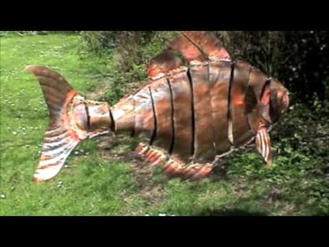 Etonnant Copper Fish Mobile By Mike Chaikin (metalchicken)