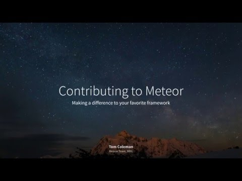 Contributing to Meteor - Tom Coleman