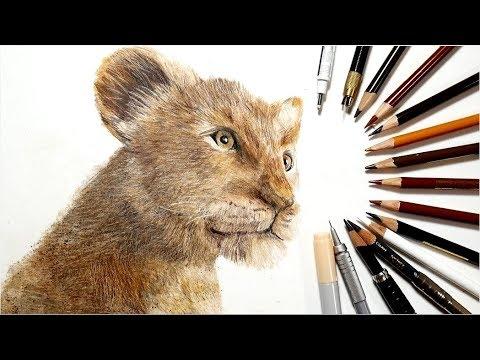 ライオン・キング シンバを描いてみた Drawing the Lion King simba