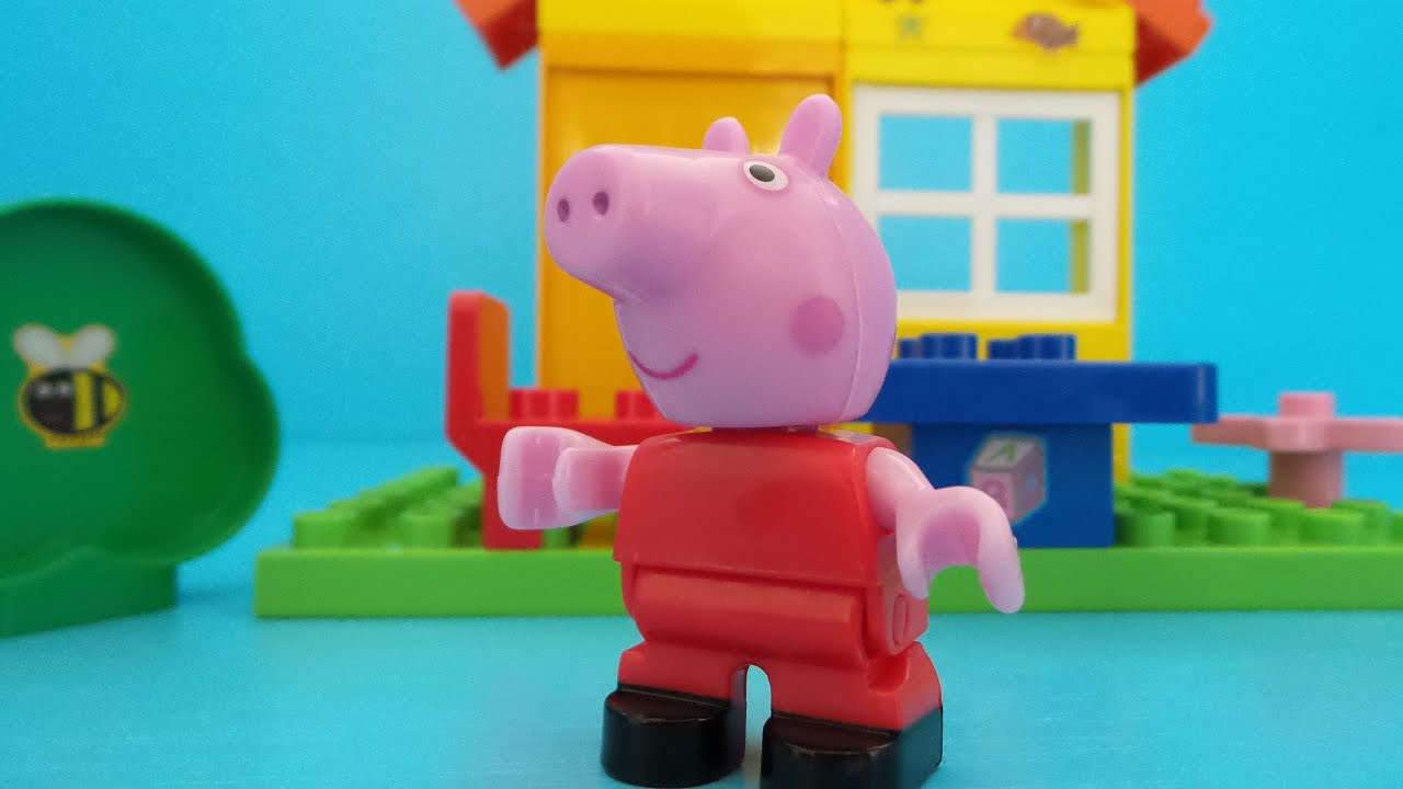 peppa wutz blocks lego duplo haus bauen youtube. Black Bedroom Furniture Sets. Home Design Ideas