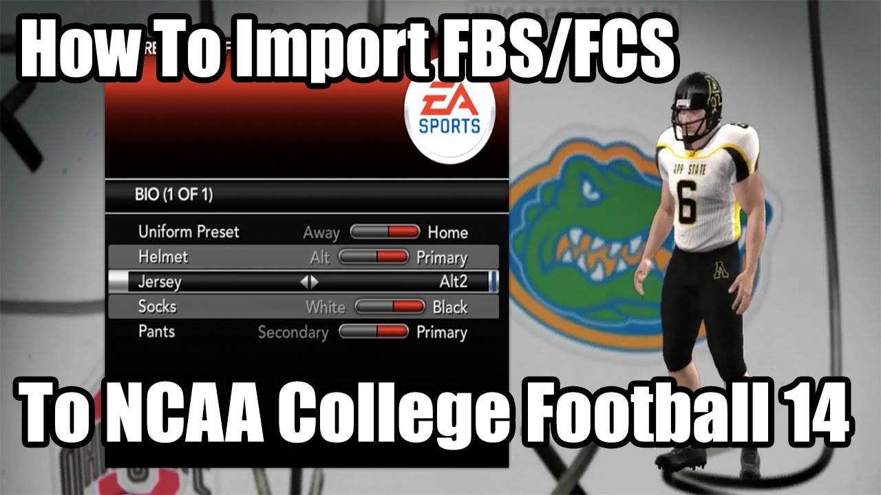 How To Import Fcs Teams On Ncaa College Football 14 Youtube