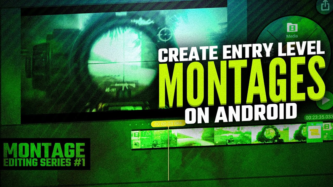 Create Entry level PUBG montages on Android | Montage editing series #1 | kinemaster