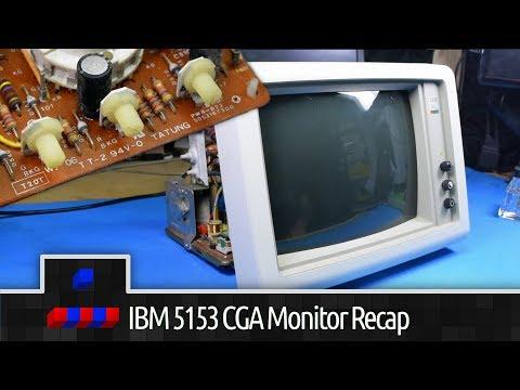 IBM 5153 CGA Monitor Simple Recap