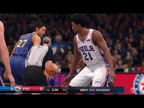 NBA Live 18 - Philadelphia 76ers vs Golden State Warriors - Gameplay (HD) [1080p60FPS]