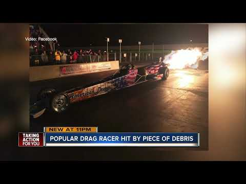 Popular drag racer killed by piece of debris