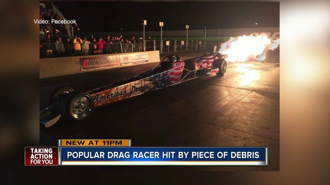 Popular drag racer killed by piece of debris